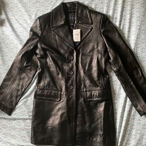 Banana Republic Leather Trench Coat